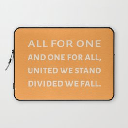 The Three Musketeers Quote Laptop Sleeve
