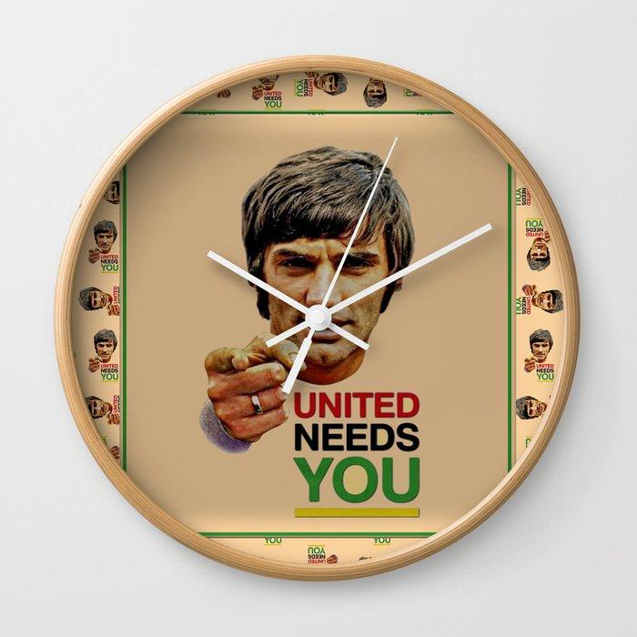 manchester united legend Wall Clock by farfalina | Society6