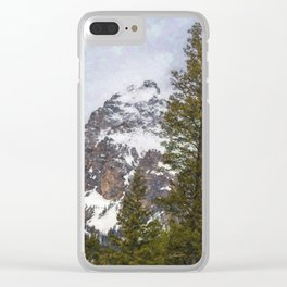 Hiking to Taggart Lake Clear iPhone Case