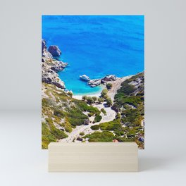 Blue Sea Shores of Saria Greece Mini Art Print