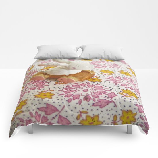 Bunny on Pink Comforters