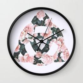 Triquetra flower Wall Clock
