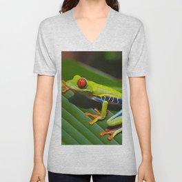 Red eyed tree frog Unisex V-Neck