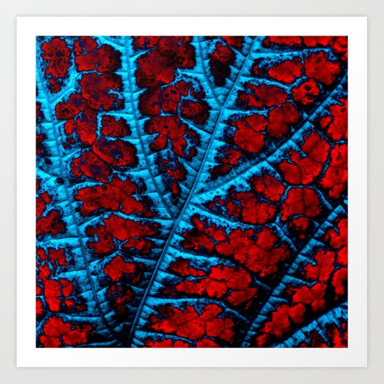 leaf structure abstract VIII Art Print