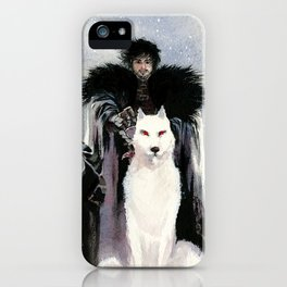 Jon and his wolf iPhone Case