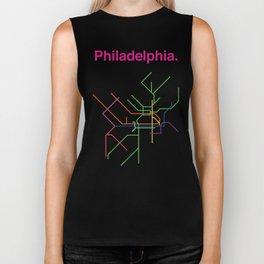 Philadelphia Transit Map Biker Tank