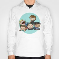 cyrilliart Hoodies featuring Cutie Pile by Cyrilliart