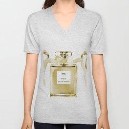 Beige perfume, flamingos Unisex V-Neck