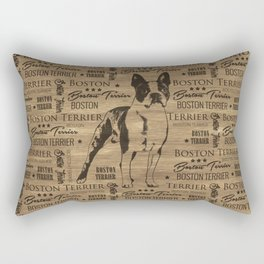 Boston Terrier dog Rectangular Pillow