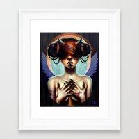 luna Framed Art Prints featuring Luna  by Christina Dias