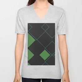 Modern Caro Abstract Unisex V-Neck