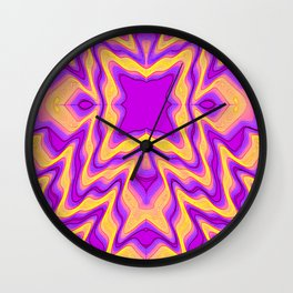 yellow purple Wall Clock