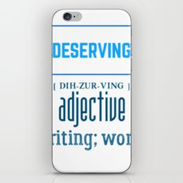 Be deserving B.Luvid iPhone Skin