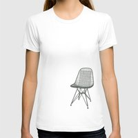 eames T-shirts featuring Eames Wire Chair by Green Bird Press