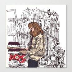 Shop Girl Canvas Print