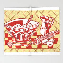 Mixing Up Something Good In The Kitchen Throw Blanket