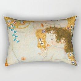 THREE AGES OF WOMAN--- GUSTAV KLIMT Rectangular Pillow