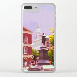 Faneuil Hall Clear iPhone Case
