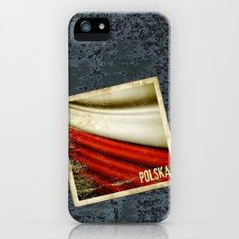 STICKER OF POLAND flag iPhone Case