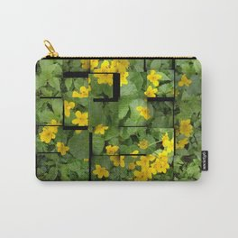 Forest Flowers Eco-friendly Camouflage Carry-All Pouch