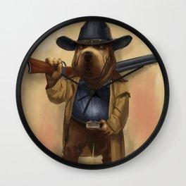 cowdog Wall Clock