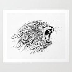 lion_roaring Art Print