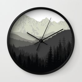 Mountain Tapestry Wall Clock
