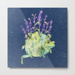 Flora Toad Metal Print