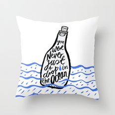 Just A Drop in The Ocean Throw Pillow