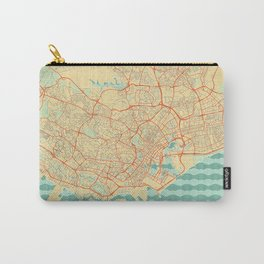 Singapore Map Retro Carry-All Pouch