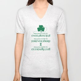 Fabricated Irish Sewing Blessing Unisex V-Neck