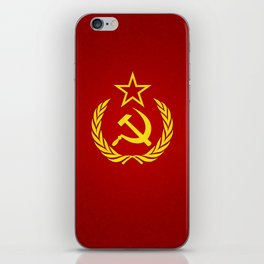 Hammer and Sickle Textured Flag iPhone Skin