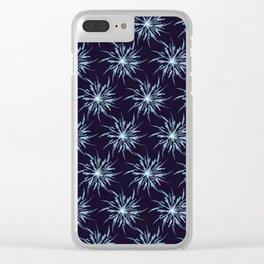 Christmas Snowflakes Clear iPhone Case