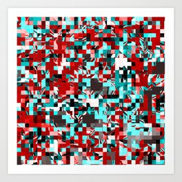 Pixelated 3 Art Print