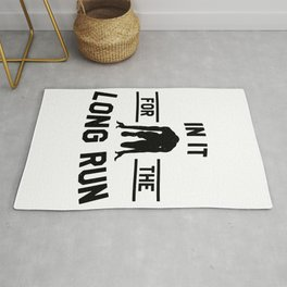 Athletics love marathon long  Run gift Rug