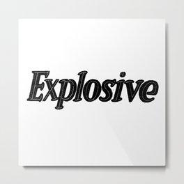 Explosive Metal Print