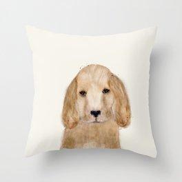 little spaniel Throw Pillow