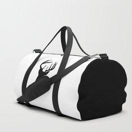 Black & White Stag Head Duffle Bag