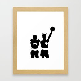#TheJumpmanSeries, Basquiat X Warhol Framed Art Print