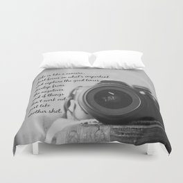 Life is Like a Camera Duvet Cover