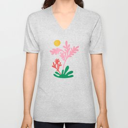 Abstract Garden: Matisse Paper Cutouts IV Unisex V-Neck