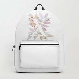 Rustic Watercolor Monogram X Backpack