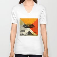 return V-neck T-shirts featuring the return by Vin Zzep