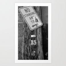 Standing B&W Art Print