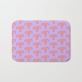 Patterned Happy Uterus in Purple Bath Mat
