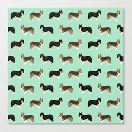 Shetland Sheep Dog pattern custom dog gifts for unique dog breed pet friendly dogs Canvas Print