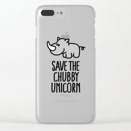 Save the chubby unicorn Clear iPhone Case