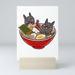 Scottish Terrier Ramen Mini Art Print