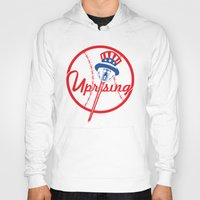yankees Hoodies featuring the NY uprising by Jacekeller