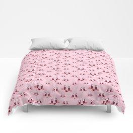 Gingham Puff Ball Comforters